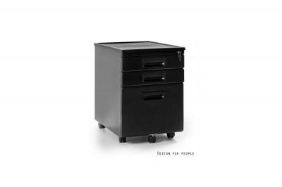Stylová zásuvková skříňka Cassie černá