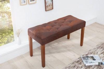 Stylová lavice Alisson 90 cm hnědá