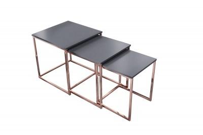 Set 3 konferenčných stolíkov Fiesta meď
