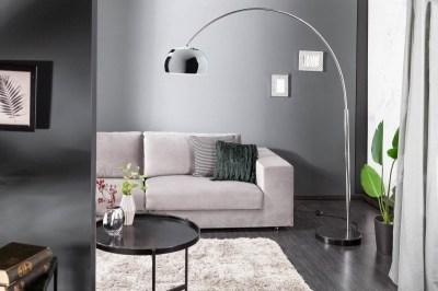 Designová stojanová lampa Arch chrom
