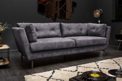 Designová sedačka Billy 220 cm šedý samet