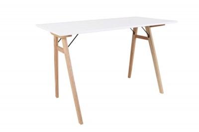 Designový psací stůl Carmen, bílý / přírodní