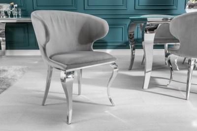 Dizajnova-stolicka-Rococo-II-sivy-zamat1
