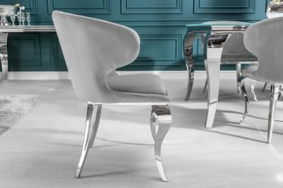 Dizajnova-stolicka-Rococo-II-sivy-zamat2