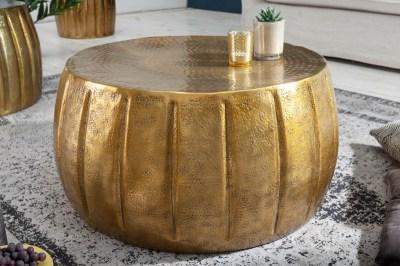 Designový konferenční stolek Maroko 65 cm zlatá barva