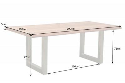 Jídelní stůl Massive Artwork 200 cm přírodní akácie