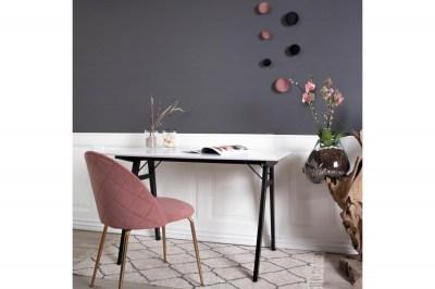 Designová židle Ernesto růžová / mosaz
