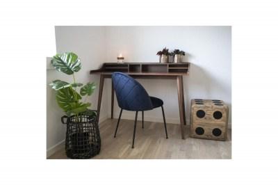 Designová židle Ernesto modrá / černá