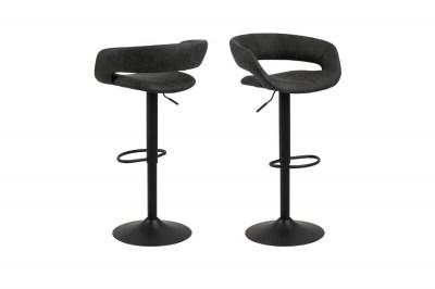 Designová barová židle Natania antracitová a černá