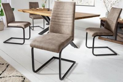 Konzolová židle Nathalie antik taupe - černá
