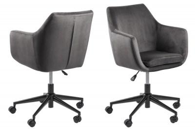 Designová kancelářská židle Norris tmavě šedá