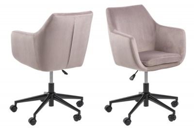 Designová kancelárska stolička Norris svetlo ružová