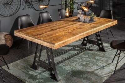Designový jídelní stůl Stream 200 cm přírodní - mango