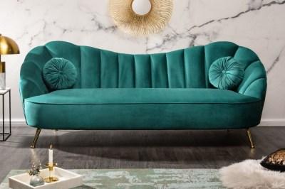 Designová sedačka Adalia 220 cm tyrkysová