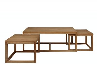Set 3 konferenčních stolků Adolphe dub