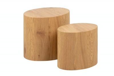 Sada odkládacích stolků Akiro imitace divoký dub