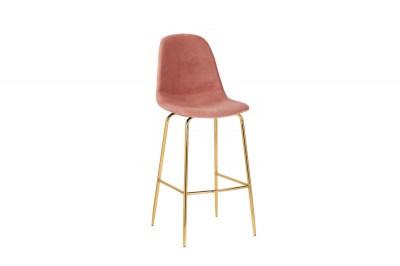 Barová židle Sweden starorůžová - zlatá