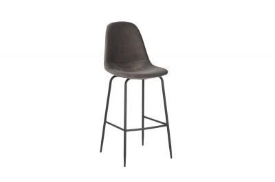 Barová židle Sweden stříbrošedý samet