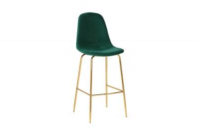 Barová židle Sweden tmavě zelená - zlatá