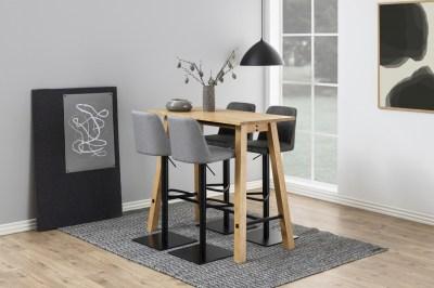 Barový stůl Nayana 120 cm broušený divoký dub