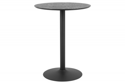 Barový stůl Neesha Ø 80 cm černý
