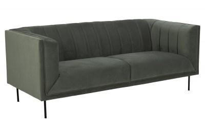 Designová 3-místná sedačka Darcila 201 cm šedo-zelená