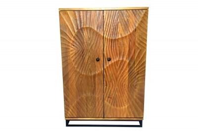Designová barová skříňka Shayla 141 cm hnědá / mango