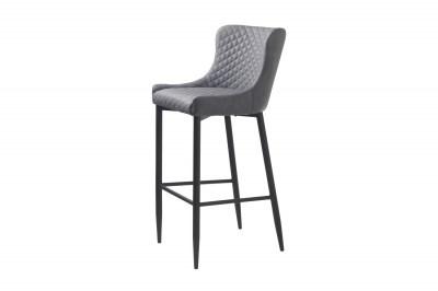 Designová barová židle Hallie šedá