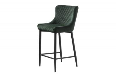 Designová barová židle Hallie zelený samet