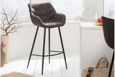 Designová barová židle Kiara antik šedá