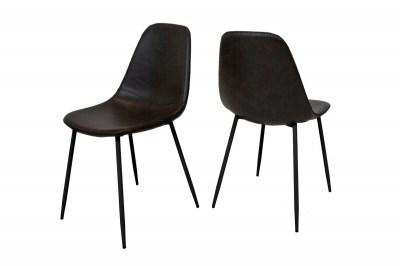Designová jídelní židle Basi černá
