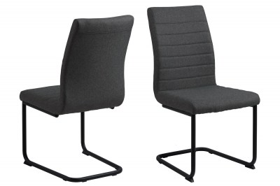 Designová jídelní židle Daitaro tmavě šedá / černá