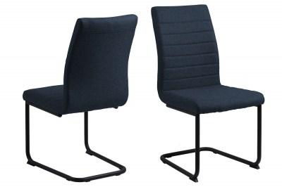 Designová jídelní židle Daitaro tmavomodrá / černá