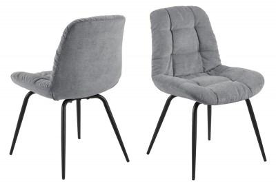 Designová jídelní židle Dalinda šedá