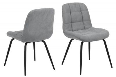 Designová jídelní židle Dalinda světlešedá