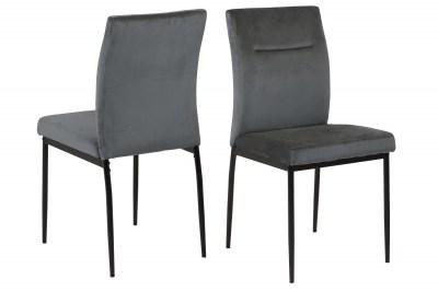 Designová jídelní židle Damilola tmavě šedá