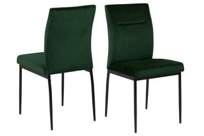 Designová jídelní židle Damilola tmavozelená
