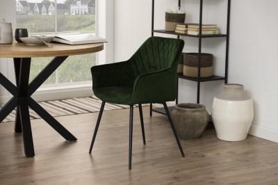 Designová jídelní židle Danessa olivově-zelená