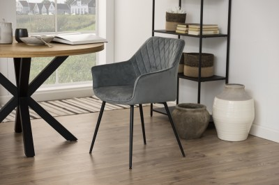 Designová jídelní židle Danessa tmavě šedá
