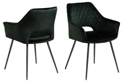 Designová jídelní židle Danessa tmavozelená
