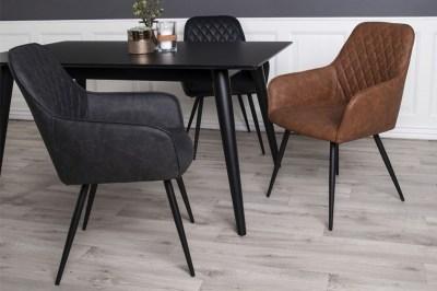 Designová jídelní židle Gracelyn černá