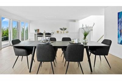 Designová jídelní židle Gracelyn šedá