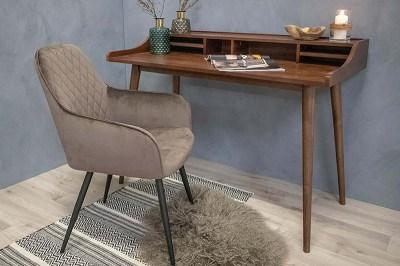 Designová jídelní židle Gracelyn šedohnědý samet