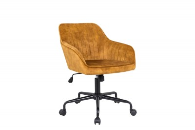 Designová kancelářská židle Esmeralda hořčičný samet
