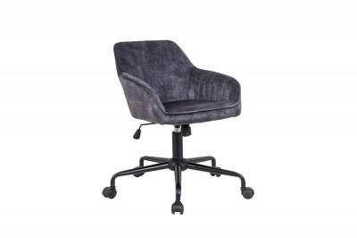 Dizjanová kancelářská židle Esmeralda tmavě šedý samet