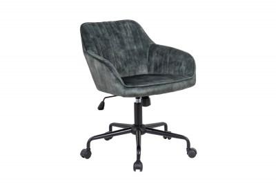 Designová kancelářská židle Esmeralda zelený samet
