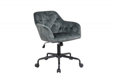 Designová kancelářská židle Kiara zelený samet
