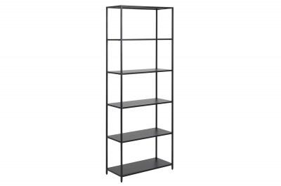 Designová knihovna Layton 185 cm černá