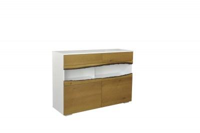 Designová komoda Kira 120 cm dub - bílý