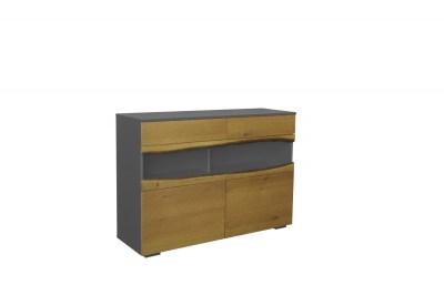 Designová komoda Kira 120 cm dub - šedý